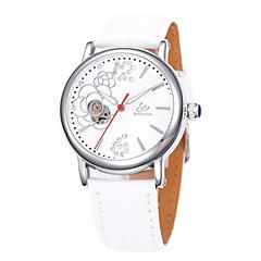 お買い得  レディース腕時計-女性用 機械式時計 自動巻き ブラック / 白 / レッド 30 m 耐水 ハンズ チャーム - パープル Brown レッド