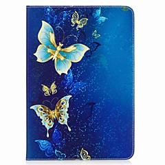 preiswerte Tablet-Hüllen-Hülle Für Samsung Galaxy Tab A 9.7 Ganzkörper-Gehäuse Tablet-Hüllen Schmetterling Hart PU-Leder für