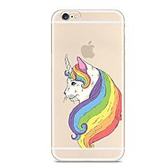 для крышки корпуса ультратонкий прозрачный узор задняя крышка чехол однорог мягкий tpu для яблока iphone x iphone 8 plus iphone 8 iphone 7