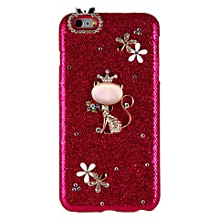 para la cubierta de la caja rhinestone back cover case gato brillo brillo duro pc para apple iphone x iphone 8 plus iphone 8 iphone 7 plus
