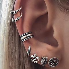 preiswerte Ohrringe-Damen Klips / Unterschiedliche Ohrringe - Eule, Blume, Stern Retro, Böhmische Silber Für Geburtstag / Geschenk / Alltag