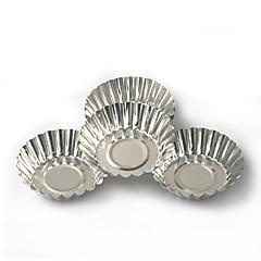 billige Bageredskaber og gadgets-10 stk. Kage aluminiumslegering tart skimmel bagning værktøj cupcake æg tærte frugt tærte skimmelsvamp 7cm diameter