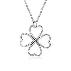 Жен. Ожерелья с подвесками Бриллиант В форме сердца В форме листа Стерлинговое серебро Классика Бижутерия Назначение Официальные