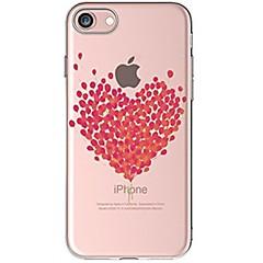 Недорогие Кейсы для iPhone-Кейс для Назначение Apple iPhone X iPhone 8 iPhone 8 Plus Ультратонкий Прозрачный С узором Задняя крышка С сердцем Мягкий TPU для iPhone