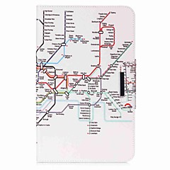 Karte Muster Kartenhalter Brieftasche mit Ständer Flip magnetischen PU-Ledertasche für Samsung Galaxy Tab eine 10,1 t580n t585n 10,1 Zoll