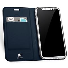 Назначение iPhone X iPhone 8 Чехлы панели Бумажник для карт со стендом Флип Чехол Кейс для Сплошной цвет Твердый Искусственная кожа для