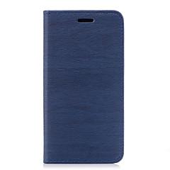 Кейс для Назначение Apple iPhone X iPhone 8 iPhone 8 Plus Бумажник для карт со стендом Флип Чехол Сплошной цвет Твердый Искусственная кожа