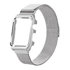 お買い得  腕時計ベルト-ステンレススチール製の交換ストラップiwatch磁気バンド、リンゴの腕時計シリーズのためのメタルケースカバー付き2シリーズ1-42mm(シルバー)