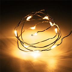 tanie Taśmy LED-1 sztuk hkv® 1 m 10 led 2 x aa baterii drut miedziany fairy string światła wesele dekoracji led string światła (bez baterii)