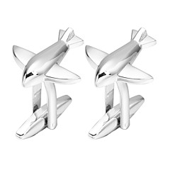 cheap Cufflinks-Plane / Aircraft Silver Cufflinks Copper Romantic Engagement Men's Costume Jewelry