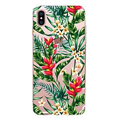 Недорогие Кейсы для iPhone X-CaseMe Кейс для Назначение Apple iPhone X / iPhone 8 / iPhone 7 Ультратонкий / С узором Кейс на заднюю панель Цветы Мягкий ТПУ для iPhone X / iPhone 8 Pluss / iPhone 8