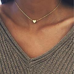 Недорогие Ко Дню Святого Валентина-Жен. Сердце форма На заказ Euramerican Мода Ожерелья-бархатки Бижутерия Медь Железо Ожерелья-бархатки На каждый день Повседневные Одежда