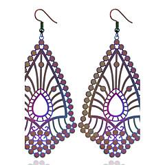 preiswerte Ohrringe-Damen Tropfen-Ohrringe / Ohrringe baumeln - Erklärung, Ethnisch, Modisch Blau / Regenbogen Für Hochzeit / Party / überdimensional