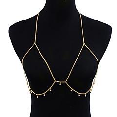 Χαμηλού Κόστους -Γυναικεία Κοσμήματα Σώματος Body Αλυσίδα / κοιλιά Αλυσίδα Γκόθικ Μοντέρνα Κοσμήματα με στυλ Προσομειωμένο διαμάντι Κράμα Geometric Shape