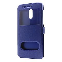 케이스 제품 Nokia Nokia 8 Nokia 6 지갑 스탠드 윈도우 플립 풀 바디 한 색상 하드 인조 가죽 용 Nokia 8 Nokia 6