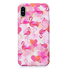 voordelige Dagaanbiedingen-hoesje Voor Apple iPhone X iPhone 8 Glow in the dark Reliëfopdruk Patroon Achterkantje Flamingo Hard PC voor iPhone X iPhone 7s Plus