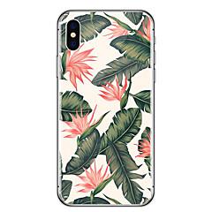 olcso iPhone 6s Plus tokok-Case Kompatibilitás Apple iPhone X iPhone 8 Ultra-vékeny Átlátszó Minta Fekete tok Virág Puha Gumi mert iPhone X iPhone 8 Plus iPhone 8