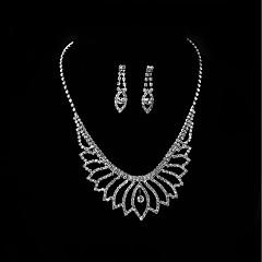 voordelige Sieradenset-Dames Druppel oorbellen Hangertjes ketting Bergkristal Bruiloft Avond Feest Strass