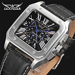 저렴한 -Jaragar 남성용 패션 시계 드레스 시계 손목 시계 캐쥬얼 시계 오토메틱 셀프-윈딩 가죽 밴드 캐쥬얼 멋진