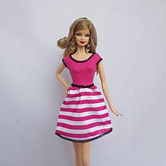 abordables Ropa para Barbies-Fiesta/Noche Vestidos por Muñeca Barbie  Fucsia Poliéster Vestido por Chica de muñeca de juguete