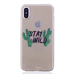 Кейс для Назначение Apple iPhone X iPhone 8 Прозрачный С узором Задняя крышка Слова / выражения Мягкий TPU для iPhone X iPhone 8 Plus