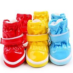 Kat Hond Schoenen & Laarzen Platte schoenen Laarzen Casual/Dagelijks Waterdicht Houd Warm Snowboots Effen Geel Rood Blauw Voor huisdieren