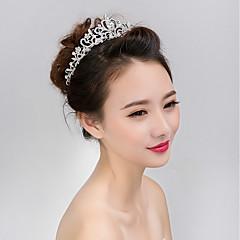 Недорогие Женские украшения-Для женщин азиатский Формальный Классический Обруч,Все сезоны Искусственный жемчуг Искусственный жемчуг Стразы