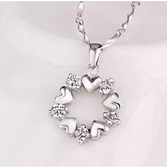 preiswerte Halsketten-Damen Kristall Anhängerketten  -  Krystall Klassisch, Süß Silber Modische Halsketten Für Alltag, Normal