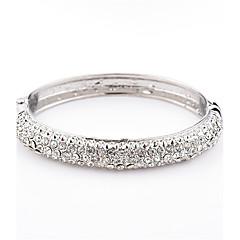 preiswerte Armbänder-Damen Kubikzirkonia Geometrisch Armreife / Manschetten-Armbänder - Krystall Modisch Armbänder Silber Für Alltag / Normal