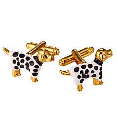 Mandzsettagomb Tie Bar Nyakkendőtű Platina bevonat Arannyal bevont Állatok Szabadidős Manžete Estély Randi Férfi