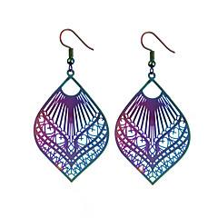 preiswerte Ohrringe-Damen Tropfen-Ohrringe / Ohrringe baumeln - Erklärung, Ethnisch, Modisch Gold / Blau / Regenbogen Für Hochzeit / Party / überdimensional