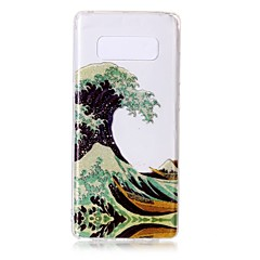 billige Galaxy Note 4 Etuier-Etui Til Note 8 Ultratyndt Transparent Mønster Bagcover Landskab Blødt TPU for Note 8 Note 5 Edge Note 5 Note 4 Note 3 Lite Note 3 Note 2