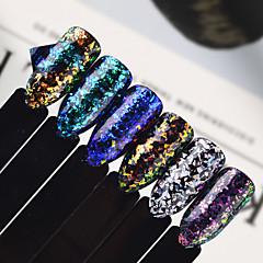 0,5g / flasche nail art schönheit glitter weihnachten schneeflocke flocke pailletten holographische funkelnden unregelmäßigen glasflocken