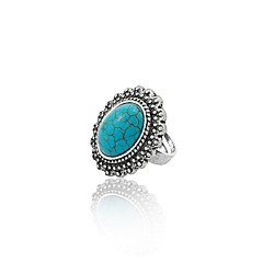cheap Women's Jewelry-Women's Band Ring Turquoise Simple Vintage Turquoise Alloy Costume Jewelry Daily