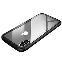 Недорогие Кейсы для iPhone X-Кейс для Назначение Apple iPhone X iPhone X Защита от удара Ультратонкий Кейс на заднюю панель Сплошной цвет Прозрачный Твердый