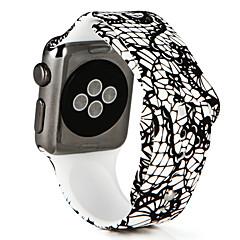 billige Apple Watch urremme-Urrem for Apple Watch Series 3 / 2 / 1 Apple Sportsrem Silikone Håndledsrem