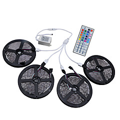 cheap LED Strip Lights-HKV® 20M(4x5m) RGB 3528SMD 1200LED RGB LED Flexible Strip Lights IP65 Waterproof With 44Key IR Remote Controller Kit DC 12V