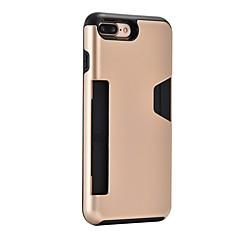Кейс для Назначение Apple iPhone 8 Plus iPhone 7 Plus Бумажник для карт Защита от удара Задняя крышка броня Твердый PC для iPhone 8 Plus