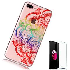 Кейс для Назначение Apple iPhone X iPhone 8 Plus Прозрачный С узором Задняя крышка Мандала Мягкий TPU для iPhone X iPhone 8 Plus iPhone 8