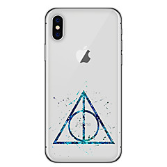 billige iPhone 5-etuier-Etui Til Apple iPhone X iPhone 8 Ultratyndt Mønster Bagcover Geometrisk mønster Blødt TPU for iPhone X iPhone 8 Plus iPhone 8 iPhone 7