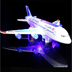 billige Lysende legetøj-LED-belysning Modelbyggesæt Legetøj Flyvemaskine Ferie Fødselsdag Musik Selvlysende i mørke Med Switch Elektrisk Klassisk Stk.