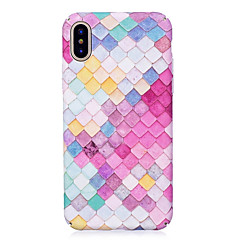 Etui Til Apple iPhone X iPhone 8 Lyser i mørket Præget Mønster Bagcover Geometrisk mønster Hårdt PC for iPhone X iPhone 8 Plus iPhone 8