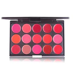 voordelige -15 kleuren rood sexy matte lipstick palet waterproof make-up fluwelen lipstick palet