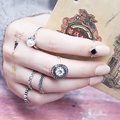 女性用 ナックリリング 人造真珠 ヴィンテージ ファッション 合金 円形 ジュエリー 用途 日常