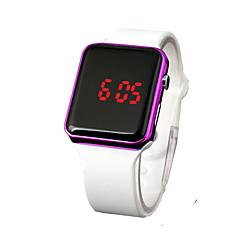 お買い得  大特価腕時計-女性用 デジタルウォッチ 中国 LCD ラバー バンド カジュアル / Elegant / ファッション ブラック / 白