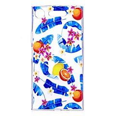 Etui Til Sony Xperia XZ1 Xperia XA1 Transparent Mønster Bagcover Træ Frugt Blødt TPU for Sony Xperia XZ1 Sony Xperia X Sony Xperia XA1