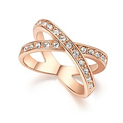 Women's Cubic Zirconia Vintage Elegant Cubic Zirconia Gold Plated Round Geometric Jewelry For Wedding Evening Party