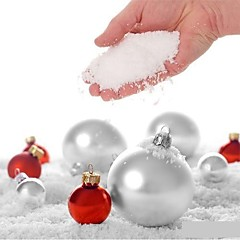 Χαμηλού Κόστους -4pcs ψεύτικο μαγικό στιγμιαίο χιόνι αφράτο για Χριστούγεννα γάμο Χριστούγεννα λευκό χιόνι