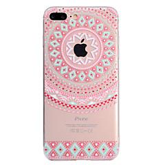 お買い得  iPhone 5S/SE ケース-ケース 用途 Apple iPhone X / iPhone 8 Plus クリア / パターン バックカバー 曼荼羅 ソフト TPU のために iPhone X / iPhone 8 Plus / iPhone 8