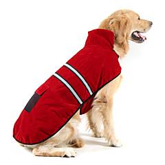 Cane Cappottini Fascia riflettente Abbigliamento per cani Caldo Tenere al caldo Solidi Arancione Blu scuro Rosso Verde cacciatore Costume